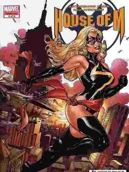 Como Ms. Marvel novamente, em edição de 2005 - Reprodução/Twitter - Reprodução/Twitter