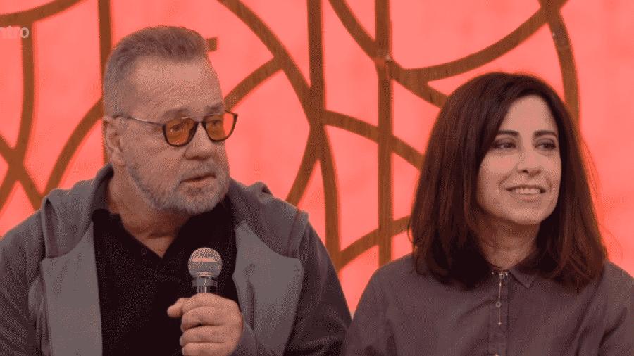 Luiz Fernando Guimarães e Fernanda Torres no Encontro com Fátima Bernardes - Reprodução/Globoplay