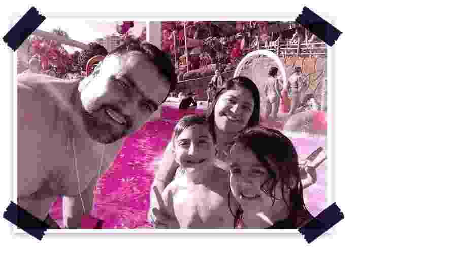 Henrique e família: Elis, Blademir e a irmã, Isadora - Arquivo Pessoal/Arte UOL