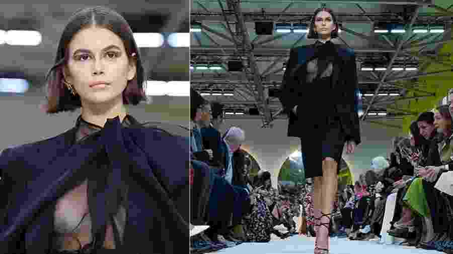 Kaia Gerber, filha de Cindy Crawford, na Paris Fashion Week - Pascal Le Segretain/Getty Images