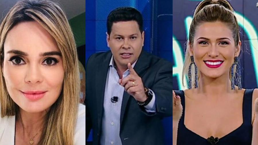 Rachel Sheherazade, Marcão do Povo e Livia Andrade - Reprodução/Montagem UOL