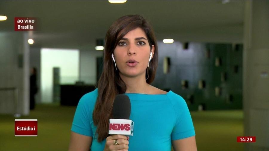 Andreia Sadi, uma das repórteres e comentaristas mais atuantes na GloboNews  - Reprodução/Internet