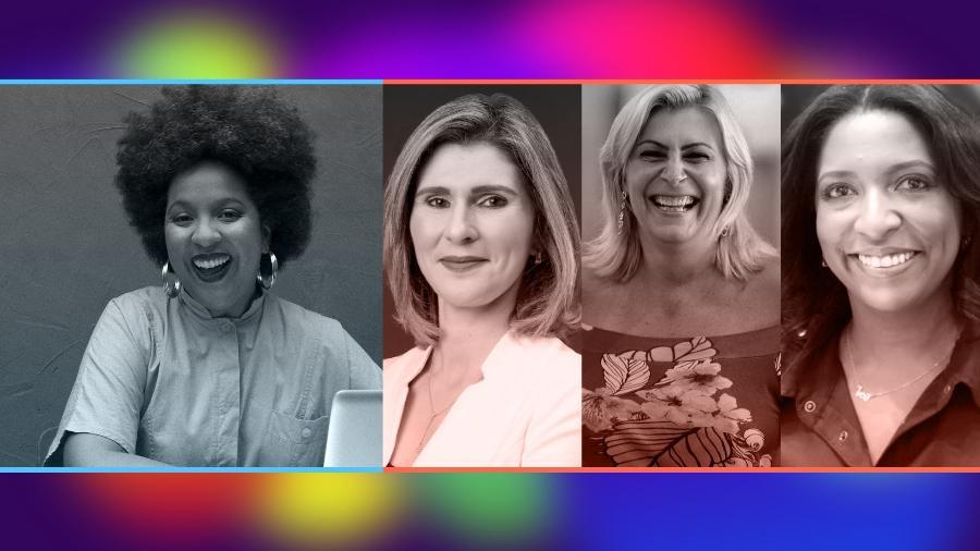 Joana Mendes, Andreia Dutra, Maite Schneider e  Andrea Cruz participam do quarto dia do evento - Arte/UOL