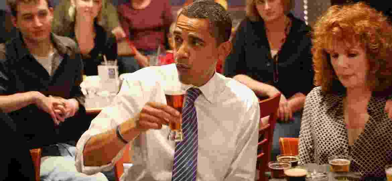 Barack Obama sempre foi fã de uma boa cervejinha. Conheça os gostos alcoólicos de mais presidentes dos EUA - Getty Images
