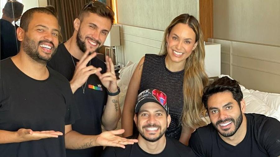 BBB 21: Projota, Arthur, Sarah, Caio e Rodolffo se encontram no hotel antes da final da edição - Reprodução/Instagram