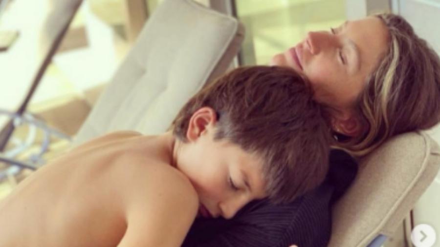 Gisele Bündchen com o filho, Benjamin Rein - Rerodução/Instagram