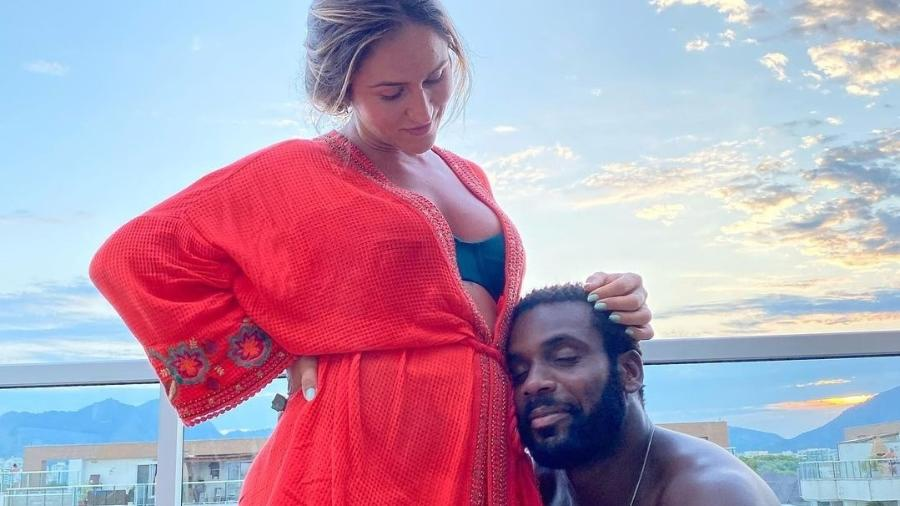 Rafael Zulu e a mulher, a personal trainer Aline Becker - Reprodução/Instagram