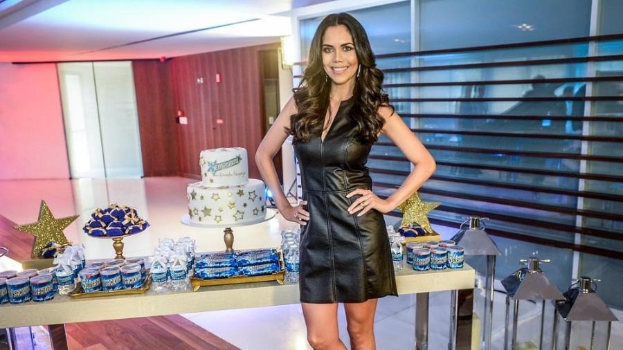 """Daniela Albuquerque em seu novo programa, """"Sensacional"""", na sede da RedeTV!, em São Paulo - Francisco Cepeda/AgNews"""