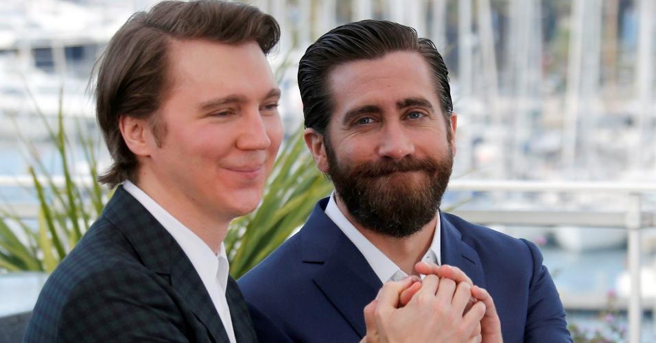 """Os atores Paul Dano e Jake Gyllenhaal conversam com a imprensa antes da exibição de """"Okja"""" no Festival de Cannes, na França"""
