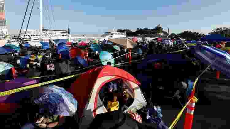 Fãs acampam em fila para tentar garantir lugar nos painéis da Marvel e da DC na San Diego Comic-Con - Mario Anzuoni/Reuters - Mario Anzuoni/Reuters