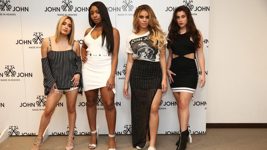 Ally Brooke, Normani Kordei, Dinah Jane e Lauren Jauregui, integrantes do Fifth Harmony, participam de evento em loja de roupas em São Paulo - Manuela Scarpa/Brazil News