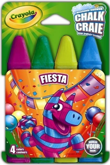 Kit de Giz de Calçada Fiesta, R$ 11,90, Crayola para Abrakidabra (www.abrakidabra.com.br)