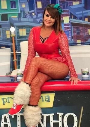 Valentina é assistente de palco do Ratinho