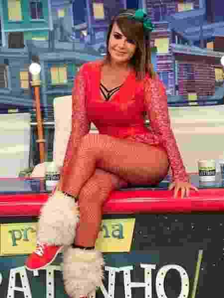 Valentina é assistente de palco do Ratinho - Reprodução/Instagram/valentinafrancavilla