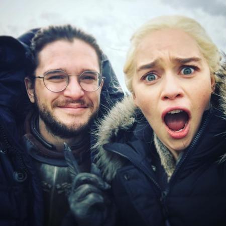 Kit Harington e Emilia Clarke - Reprodução/Instagram
