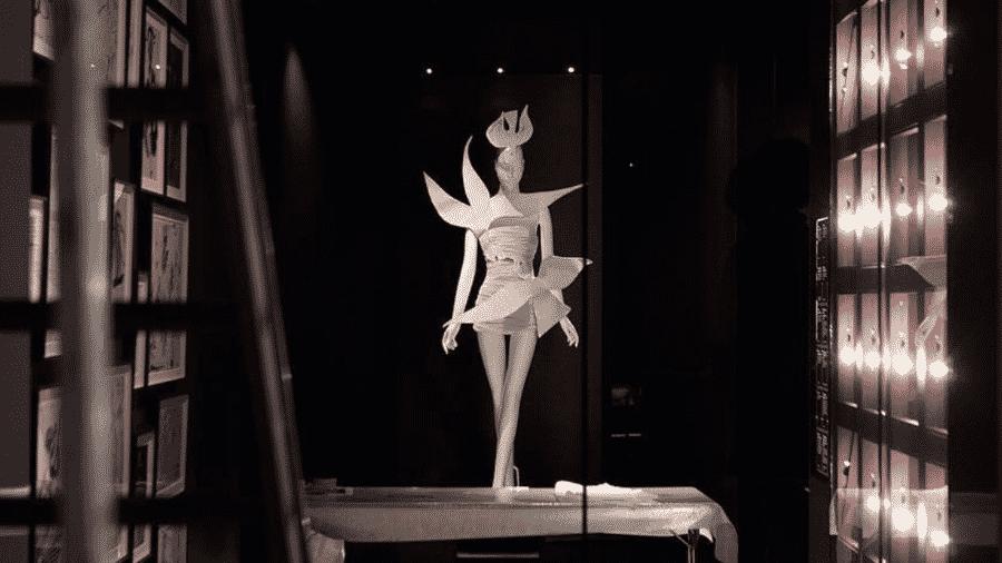 Uma das áreas de visitação do museu Yves Saint Laurent, em Paris - Reprodução/Instagram