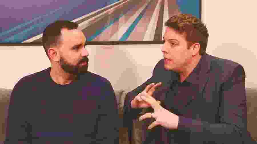 Álvaro Leme entrevista Fabio Porchat - Reprodução/YouTube