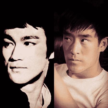Os atores Bruce Lee e Mike Moh - Reprodução/Instagram/mikemoh
