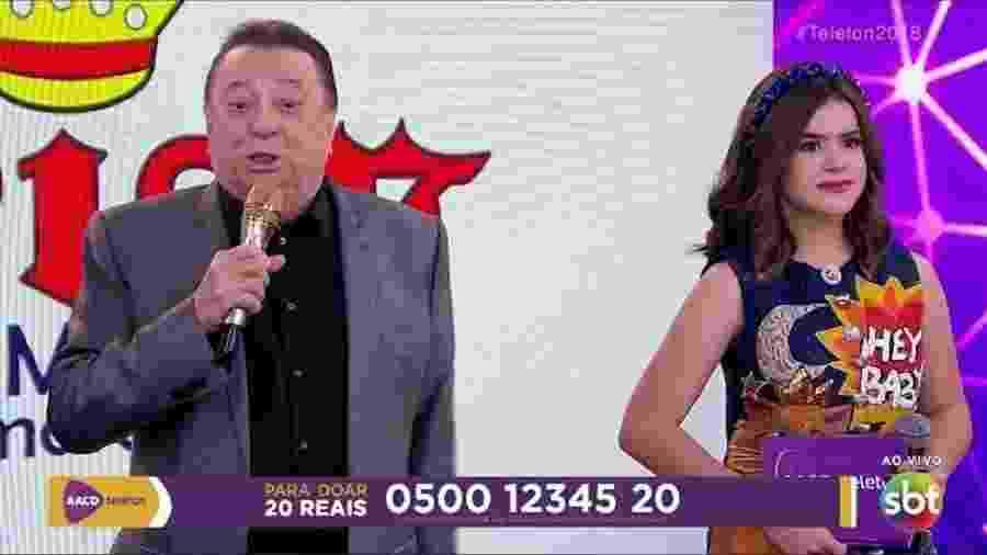Raul Gil no  Teleton - Reprodução/SBT