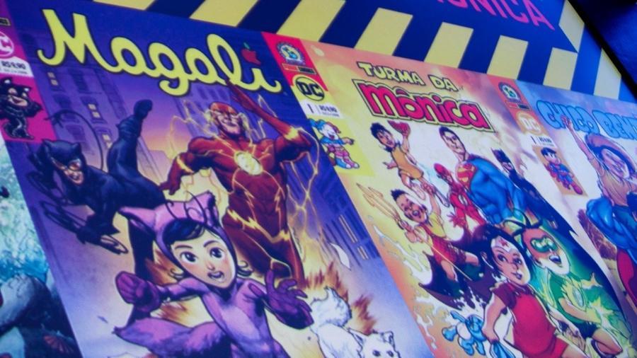 Crossover entre os personagens da Turma da Mônica e os heróis da DC - Mariana Pekin/UOL