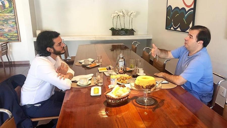 Túlio Gadêlha conversa com Rodrigo Maia e é criticado - Reprodução/Instagram/tulio.gadelha