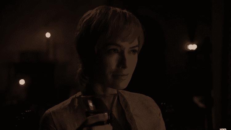 """Cersei  em trailer da oitava temporada de """"Game of Thrones"""" - Reprodução/YouTube - Reprodução/YouTube"""