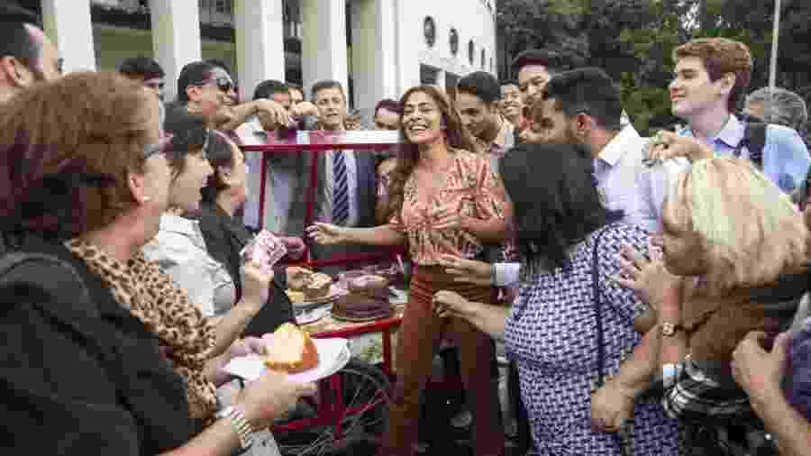 """Juliana Paes grava cena de """"A Dona do Pedaço"""" em São Paulo - Globo/João Miguel Júnior"""