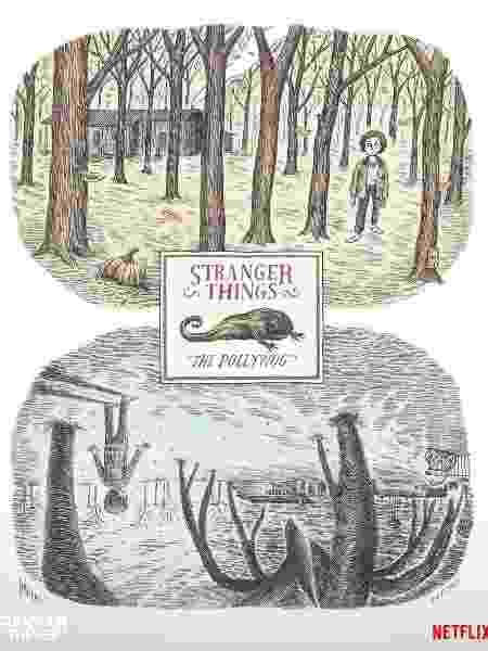 """Pôster de """"Stranger Things"""" assinado por Liniers - Reprodução/Twitter"""