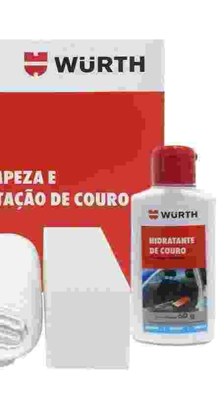 Kit da Würth permite não só limpar, como também hidratar as superfícies de couro do automóvel - Divulgação