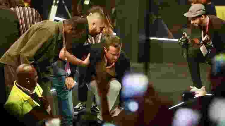 Ryan Reynolds e John Keery causam comoção de fãs na chegada à CCXP 2019 - Iwi Onodera/UOL - Iwi Onodera/UOL
