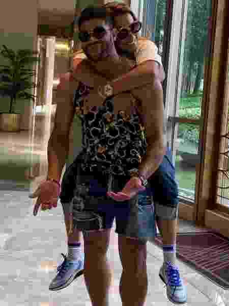 Hulk Paraíba e a ex-mulher, Iran Ângelo, quando ainda eram casados - Reprodução/Instagram