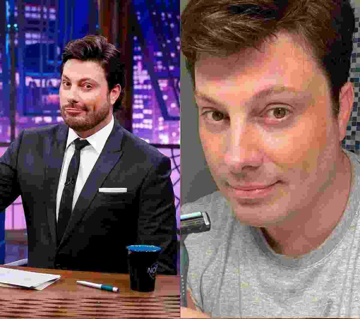 """Danilo Gentili (apresentador): Ao rapar a barba, o apresentador do The Noite justificou: """"Raspei a barba pro coronga [sic] virús não ficar preso nela"""" - Reprodução/Instagram"""