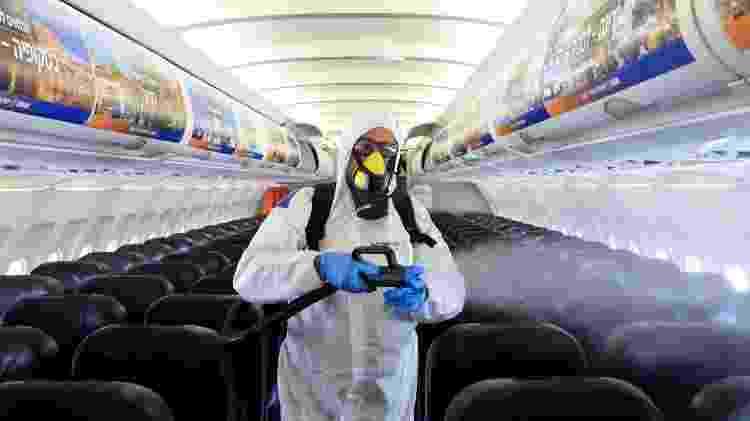 Aeronaves da Boeing e Airbus passam por desinfecção em Israel - Getty Images - Getty Images