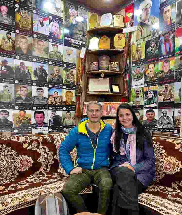Auber e Silvana na Casa de Chá dos Mártires - Arquivo pessoal - Arquivo pessoal