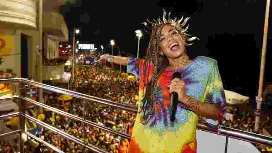 Anitta durante seu bloco no Carnaval de Salvador em 2017 - Felipe Panfilli/Divulgação