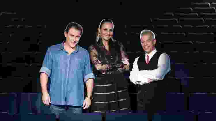 """Os jurados do """"Dancing Brasil"""": o ator Paulo Goulart Filho e os coreógrafos Fernanda Chamma e Jaime Arôxa - Edu Moraes/Record - Edu Moraes/Record"""