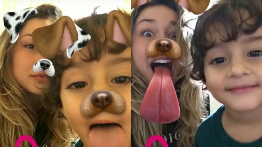 Sasha se diverte com o irmão David - Reprodução/Instagram