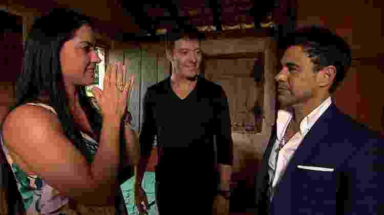 No programa de Rodrigo Faro, Graciele se emociona na casa em que Zezé morou na infância, em Goiás - Divulgação/Record TV - Divulgação/Record TV