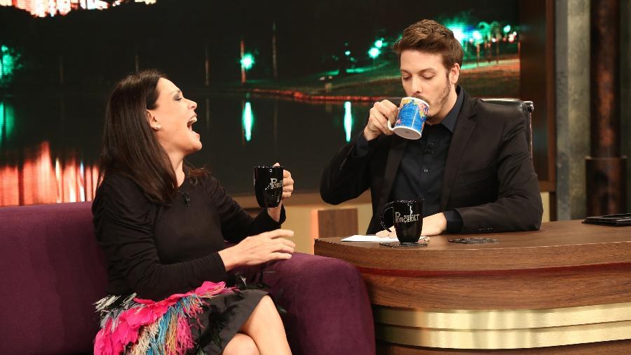 "Carolina Ferraz foi entrevista no ""Programa do Porchat"" - Antonio Chahestian/ Record TV"