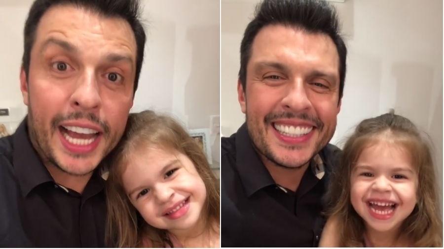 Ceará e a filha, Valentina - Reprodução/Instagram