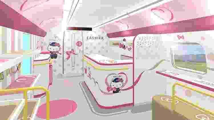 Trem Hello Kitty - Divulgação - Divulgação