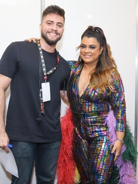 Preta Gil posa com o marido, Rodrigo Godoy, nos bastidores do Milkshake Festival - Manuela Scarpa/Brazil News