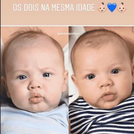 Andressa Suita mostra como os filhos, Gabriel e Samuel, são parecidos - Reprodução/Instagram
