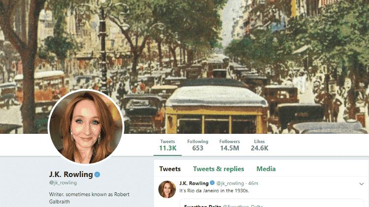 Capa do Twitter de J.K. Rowling - Reprodução - Reprodução