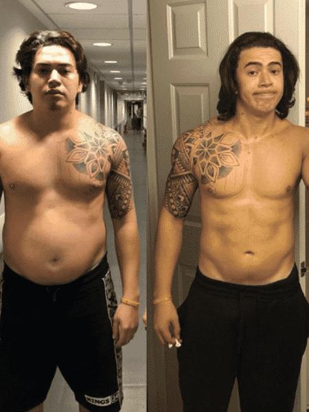 Whindersson Nunes mostra antes e depois de perder quase 30 kg - Reprodução/Instagram