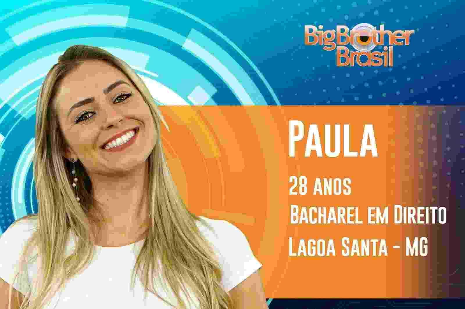 """Paula é a décima terceira participante do """"BBB19"""" - Reprodução/TvGlobo"""