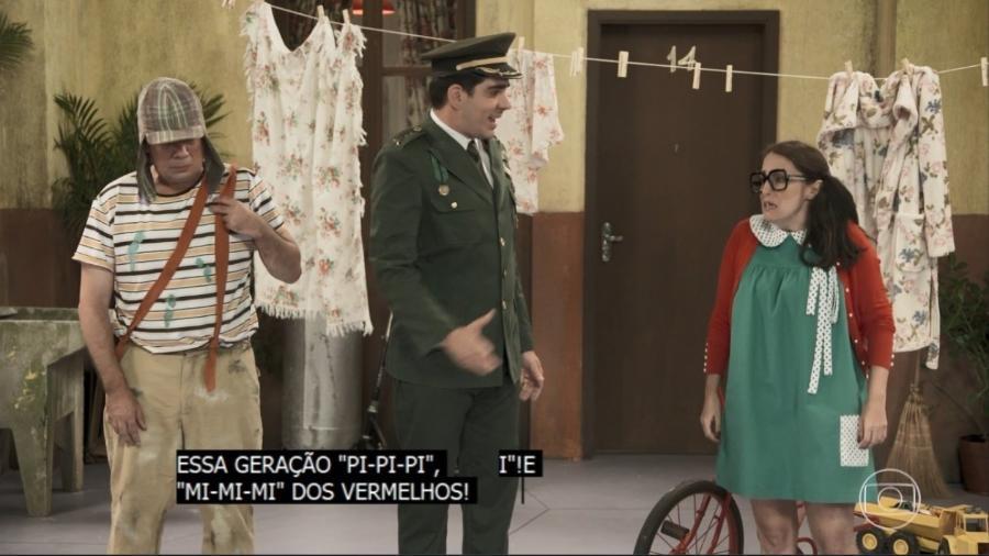 """Globo faz sátira de Bolsonaro na vila do """"Chaves"""" - Reprodução/TV Globo"""
