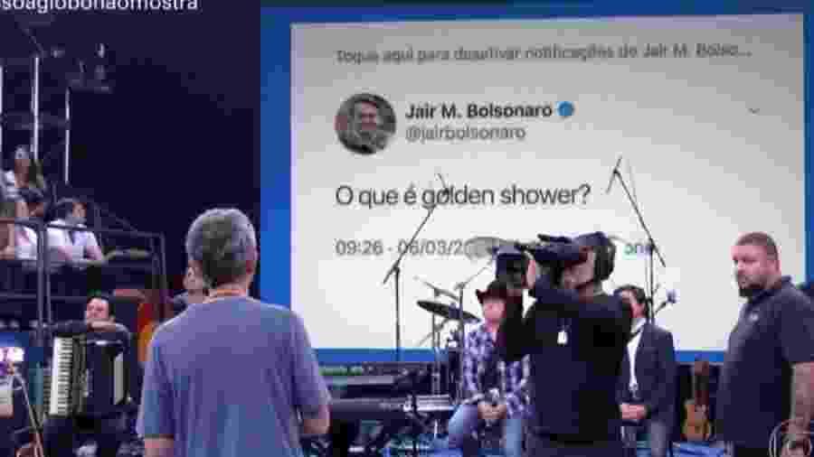 """Laura Muller fala sobre """"golden shower"""" de Bolsonaro no """"Fantástico"""" - Reprodução/TV Globo"""