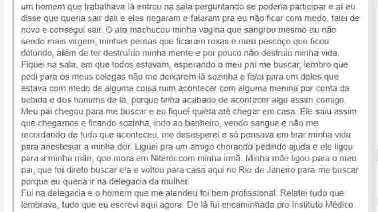 Nina* print 2 - Reprodução/Facebook - Reprodução/Facebook
