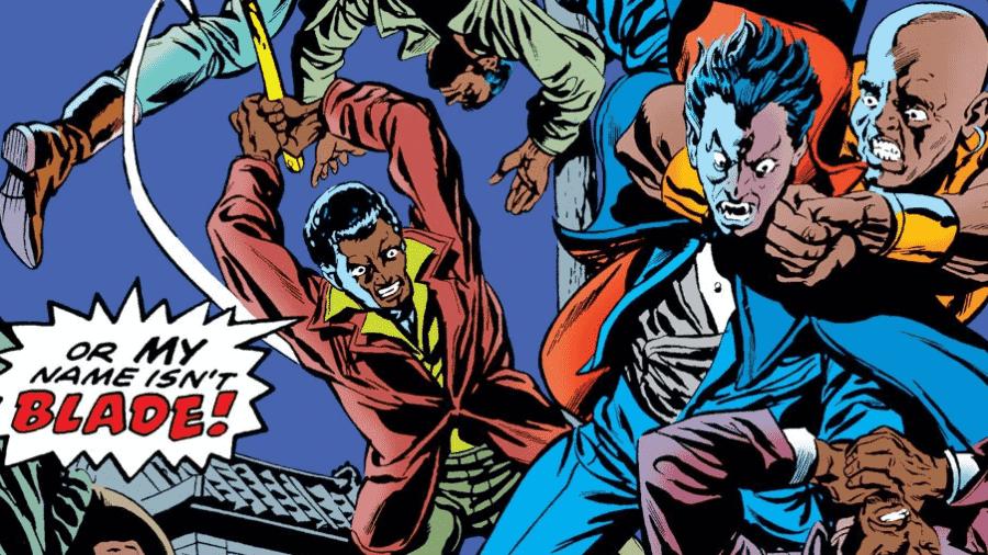 Blade e Drácula nos quadrinhos - Reprodução